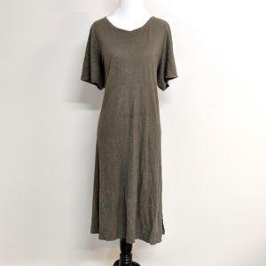 Eileen Fisher Olive Green T-shirt Maxi Dress